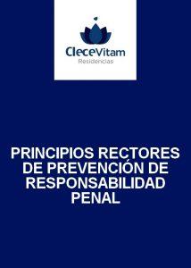 Principios rectores de prevención de responsabilidad penal